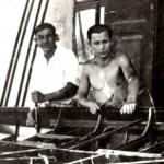 Tóni bácsi Mozola nevű segédjével 1934-ben